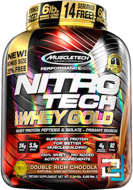 100% Whey Gold, Muscletech, Nitro Tech, 5.53 lbs, 2510 g