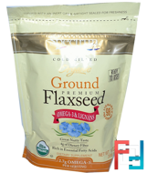 Organic Ground Premium Flaxseed, Spectrum Essentials, 14 oz (396 g)