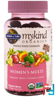 Mykind Organics, Women's Multi, Organic Berry, Garden of Life, 120 Gummy Drops