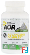 Advanced Series, Advanced B Complex, Advanced Orthomolecular Research AOR, 90 Veggie Caps