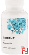Niacinamide, Thorne Research, 180 Vegetarian Capsules