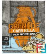 Carb Killa, High Protein Bar, Chocolate Chip Cookie Dough, Grenade, 12 Bars, 2.12 oz (60 g) Each