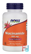 Niacinamide, 500 mg, Now Foods, 100 Capsules