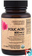 Folic Acid From Lemon Peel, 800 mcg, FutureBiotics, 120 Organic Veggie Tabs