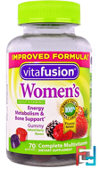 Women's Complete Multivitamin, Natural Berry Flavors, VitaFusion, 70 Gummies