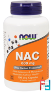 NAC, (N-Acetyl Cysteine), Now Foods, 600 mg, 100 Veggie Caps