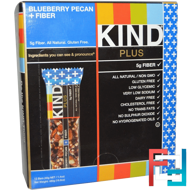 Plus, Blueberry Pecan + Fiber, KIND Bars, 12 Bars, 1.4 oz (40 g) Each
