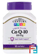 Co Q-10, 21st Century, 100 mg, 90 Softgels