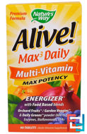 Alive!, Max3 Daily, Multi-Vitamin, Nature's Way, 90 Tablets