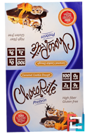 ChocoRite Protein Bars, Caramel Cookie Dough, HealthSmart Foods, Inc., 16 Bars, 1.20 oz (34 g) Each