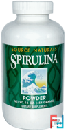 Spirulina Powder, Source Naturals, 16 oz, 454 g