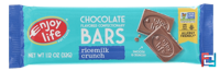 Chocolate Flavored Confectionary Bars, Ricemilk Crunch, Enjoy Life Foods, 1.12 oz (32 g)