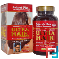 Ultra Hair, For Men and Women, Nature's Plus, 90 Tablets