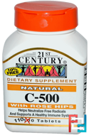 21st Century, Natural C-500 with Rose Hips, 110 Tablets