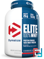 Elite 100% Whey Protein Powder, Dymatize Nutrition, 5 lbs, 2300 g