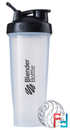 BlenderBottle, Classic With Loop, Black/Clear, Sundesa, 32 oz