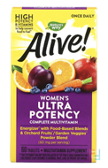 Alive! Once Daily, Women's Ultra Potency Multi-Vitamin, Nature's Way, 60 Tablets