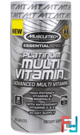 Plantinum Multi Vitamin, Essential Series, Muscletech, 90 Caplets