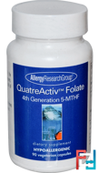 QuatreActiv Folate, 4th Generation 5-MTHF, Allergy Research Group, 90 Veggie Caps