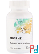 Children's Basic Nutrients, Thorne Research, 180 Vegetarian Capsules