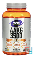 AAKG 3500, Now Foods, 180 tablets