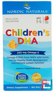 Children's DHA, Strawberry, Nordic Naturals, 250 mg, 180 Soft Gels