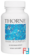 Basic B Complex, Thorne Research, 60 Vegetarian Capsules