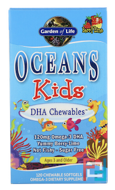 Oceans Kids, DHA Chewables, Age 3 And Older, Berry Lime, Garden of Life, 120 Chewable Softgels