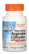 Fast Acting Arginine Complex with Nitrosigine, 750 mg, Doctor's Best, 60 Tablets