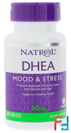 DHEA, 50 mg, Natrol, 60 Tablets