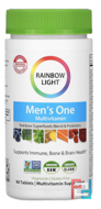 Men's One, Food-Based, Multivitamin, Rainbow Light, Just Once, 90 Tablets