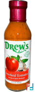Dressing & Quick Marinade, Smoked Tomato, Drew's Organics, 12 fl oz (354 ml)