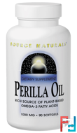 Perilla Oil, Source Naturals, 1000 mg, 90 Softgels