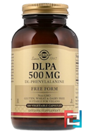DLPA, Free Form, Solgar, 500 mg, 100 Vegetable Capsules