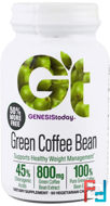 Green Coffee Bean, Genesis Today, 90 Veggie Caps