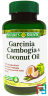 Garcinia Cambogia & Coconut Oil, Nature's Bounty, 60 Softgels