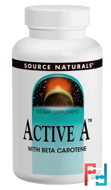 Active A, 25,000 IU, Source Naturals, 120 Tablets