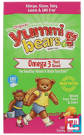 Yummi Bears, Fish Free Omega 3 with Chia Seed, All Natural Fruit Flavors, Hero Nutritional Products, 90 Gummy Bears