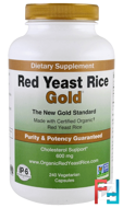 Red Yeast Rice, Gold, IP-6 International, 600 mg, 240 Vegetarian Capsules