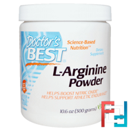 L-Arginine Powder, Doctor's Best, 300 g