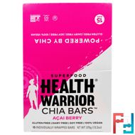 Health Warrior, Inc., Chia Bars, Acai Berry, 15 Bars, 13.2 oz (375 g)
