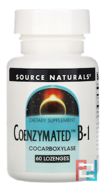 Coenzymated B-1, Source Naturals, 60 Tablets