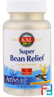 Super Bean Relief, Vanilla Dream, KAL, 90 Micro Tablets