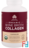 Organic Bone Broth Collagen, Dr. Axe / Ancient Nutrition, 180 Capsules