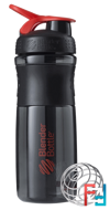 BlenderBottle, SportMixer Tritan Grip, Black/Red, Sundesa, 28 oz