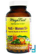 Multi for Women 55+, Multivitamin & Mineral, Iron Free, MegaFood, 120 Tablets