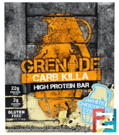 Carb Killa Bars, White Chocolate Cookie, Grenade, 12 Bars, 2.12 oz (60 g) Each