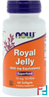 Royal Jelly, Now Foods, 1000 mg, 60 Softgels