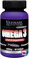 Omega 3, Ultimate Nutrition, 1000 mg, 90 softgels