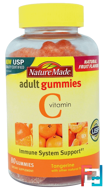 Vitamin C Adult Gummies, Tangerine, Nature Made, 80 Gummies